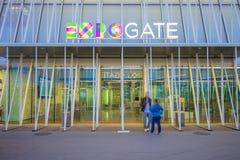 Porte 2015 d'expo à Milan, Italie Image stock