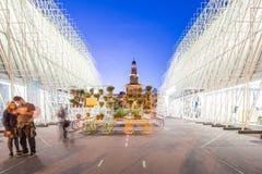 Porte 2015 d'expo à Milan, Italie Photos stock