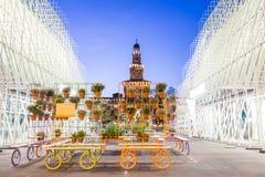 Porte 2015 d'expo à Milan, Italie Images stock