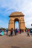 Porte d'Inde un mémorial de guerre à New Delhi Photographie stock libre de droits