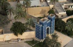 Porte d'Ishtar à l'entrée de Babylone, Irak Images libres de droits