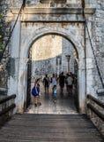 Porte dans Dubrovnik Photos stock