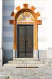 porte dans la colonne de l'Italie Lombardie le vieil ange de Milan Image stock