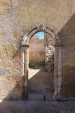 Porte dans la fortification, EL Jadida, Maroc Photos libres de droits