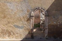 Porte dans la fortification, EL Jadida, Maroc Photo stock