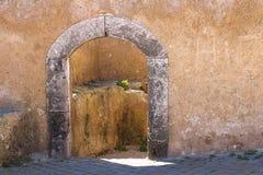 Porte dans la fortification, EL Jadida, Maroc Images stock