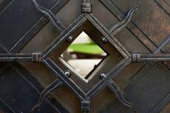 Porte dans la vieille ville de Vilnius image libre de droits