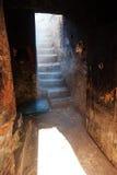 Porte dans une maison abandonnée à Marrakech Images stock