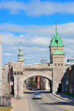 Porte Dauphine in Quebec City. Porte Dauphine gate closeup in Quebec City Stock Image