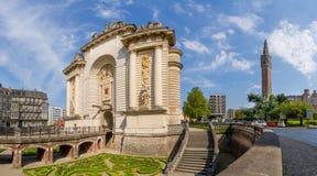 Porte de巴黎在里尔法国 库存图片
