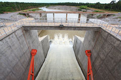 Porte de barrage Photographie stock