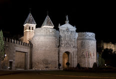 Porte de Bisagra. Vue externe Images stock