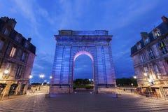 Porte de Bourgogne in Bordeaux Stock Images