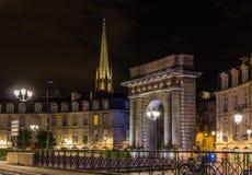 Porte de Bourgogne i Bordeaux, Frankrike Royaltyfri Bild