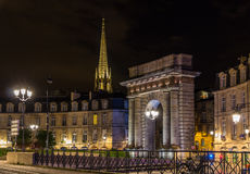 Porte de Bourgogne no Bordéus, França Imagem de Stock Royalty Free