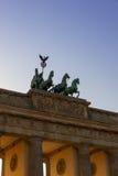 Porte de Brandebourg À Berlin Photographie stock libre de droits