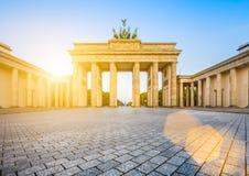 Porte de Brandebourg au lever de soleil, Berlin, Allemagne Photo libre de droits