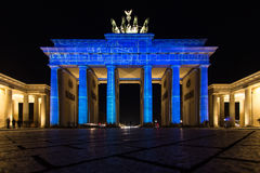 Porte de Brandebourg lumineuse Photo libre de droits