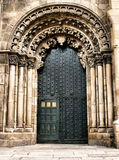 Porte de cathédrale d'Ourense Photo stock