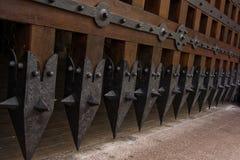 Porte de château Images stock
