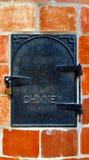 Porte de cheminée de fonte Images libres de droits