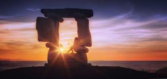 Porte de coucher du soleil Image stock
