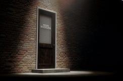 Porte de détective privé dehors
