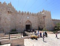 Porte de Damas, vieille ville de Jérusalem Photographie stock