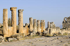 Porte de Domitian dans Hierapolis Photo stock