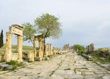 Porte de Domitian dans Hierapolis Images libres de droits