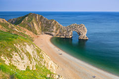 Porte de Durdle sur la côte jurassique de Dorset, R-U Photo stock