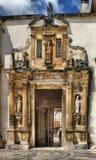 Porte de fer de l'université de Coimbra Images stock