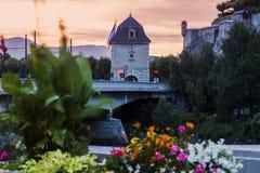 Porte de France i Grenoble Arkivfoto