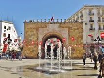 Porte de France i Tunis, Tunisien Royaltyfri Foto