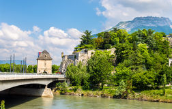 Porte de France and Jardin des Dauphins in Grenoble Stock Photography