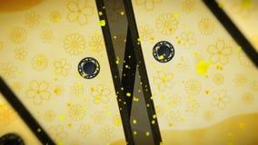 Porte de fusuma de style japonais Animation de boucle de porte coulissante Porte de papier historique au Japon illustration de vecteur