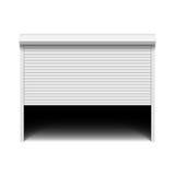 Porte de garage de volet de rouleau Images libres de droits