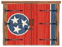 Porte de grange fermée avec Tennessee State Flag illustration libre de droits