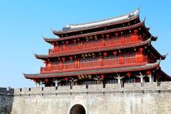 Porte de Guangji, bâtiments d'héritage avec le style de chinois traditionnel et caractéristiques locales images stock