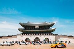 Porte de Gwanghwamun de palais de Gyeongbokgung à Séoul, Corée photo stock