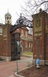 Johnston Gate à l'Université d'Harvard Images libres de droits