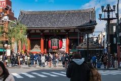 Porte de Kaminarimon (tonnerre) de temple de Sensoji, Tokyo Image libre de droits