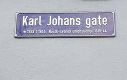 Porte de Karl Johans photos stock