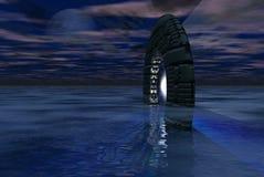 Porte de l'espace Photo libre de droits