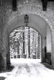 Porte de l'hiver Photographie stock