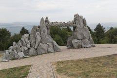 Porte de la pente de montagne de Sun Mashuk Photographie stock libre de droits
