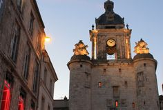 Porte De Los angeles Grosse Horloge, La Rochelle (Francja) obraz royalty free