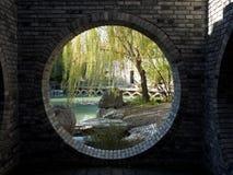 Porte de lune de style de Chines image libre de droits