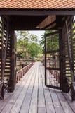 Porte de maison d'entrée de la Thaïlande Photographie stock
