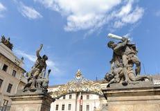 Porte de Matthias de château dans Hradcany Image stock